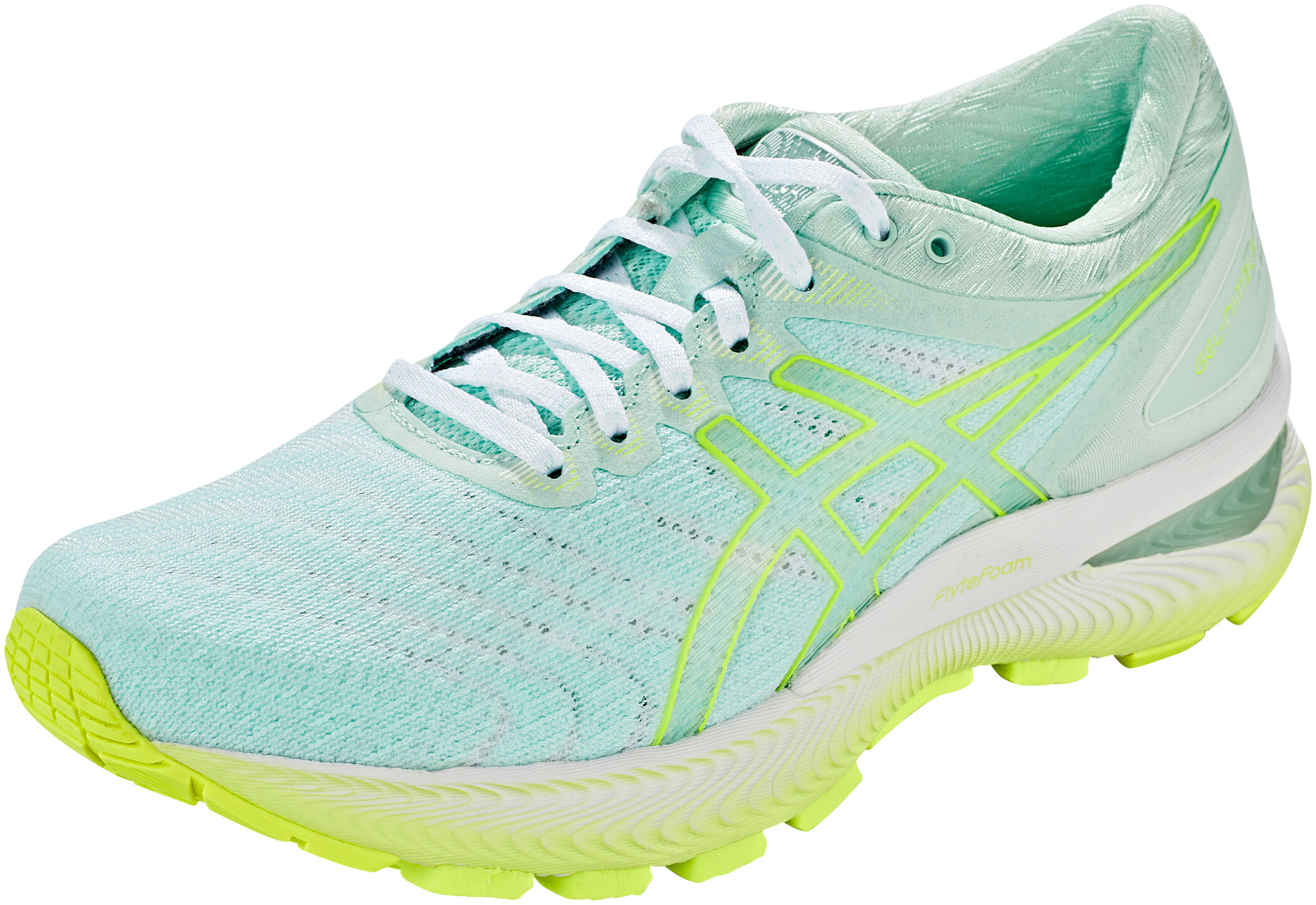 asics Gel Nimbus 22 Modern Tokyo Shoes Women mint tintsafety yellow
