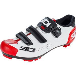 Sidi MTB Trace 2 Shoes Men ホワイト/ブラック/レッド