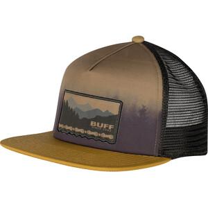 Buff Trucker Cap Flat Visor, bruin/bont bruin/bont