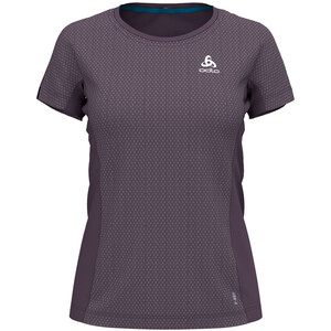 Odlo Omnius Light Bl T-shirt Manches courtes Col ras-du-cou Femme, violet violet