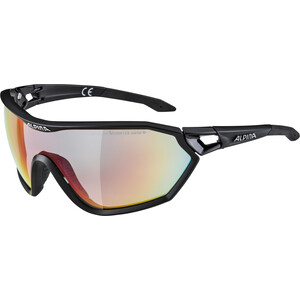 Alpina S-Way L QVM+ Brille black matt/rainbow mirror black matt/rainbow mirror
