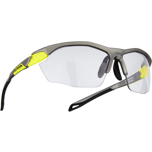 Alpina Twist Five HR VL+ Brille grau/gelb