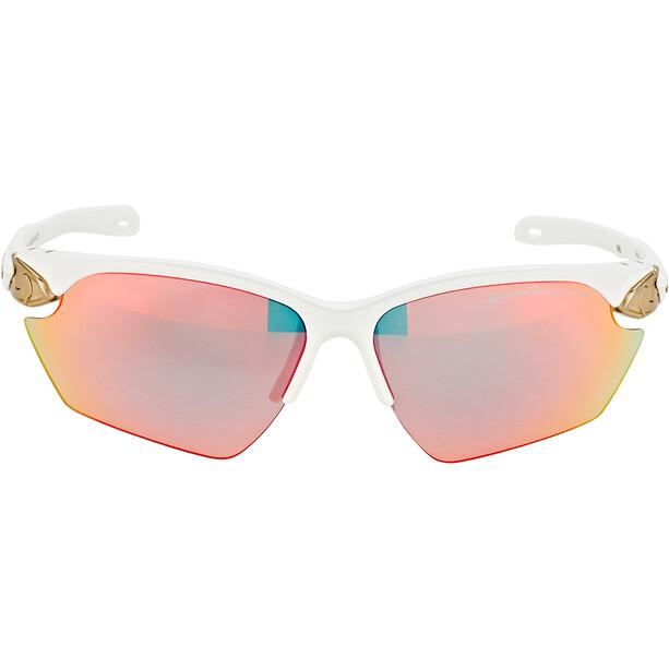 Alpina Twist Five HR S QVM+ Glasses white matt-silver/rainbow mirror