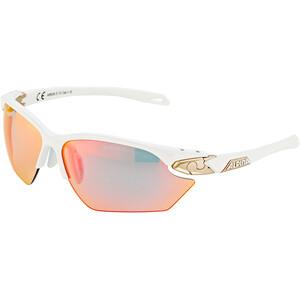 Alpina Twist Five HR S QVM+ Glasses white matt-silver/rainbow mirror white matt-silver/rainbow mirror