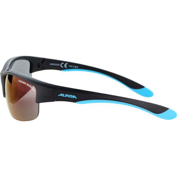 Alpina Flexxy HR Brille Jugend black matt-blue/blue mirror