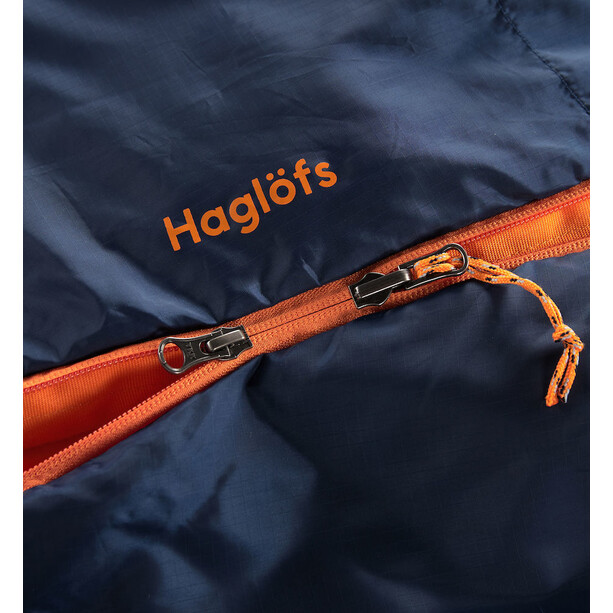 Haglöfs Tarius Lite +8 Sleeping Bag 190cm midnight blue/tangerine