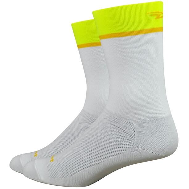 "DeFeet Aireator 6"" Socken team defeet/white/hi-vis yellow"