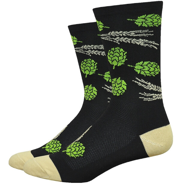 "DeFeet Aireator 6"" Socken hops and barley/black/gold"