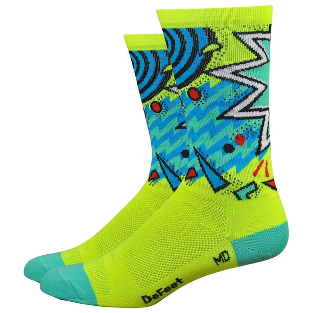 "DeFeet Aireator 6"" Socken shazam/hi-vis yellow/celeste green/blue"