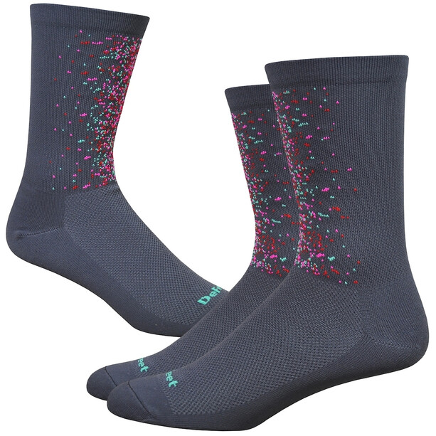 "DeFeet Aireator 6"" Socken splatter/graphite/multi colors"