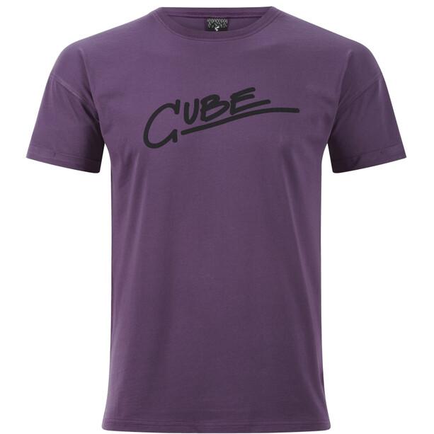 Cube Organic Edge T-Shirt Herren plum