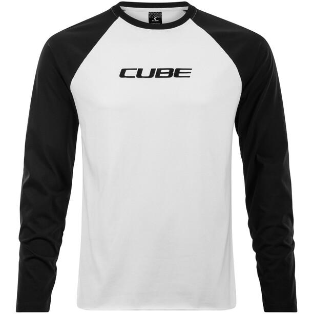 Cube Organic Langarm Shirt Herren black´n´white