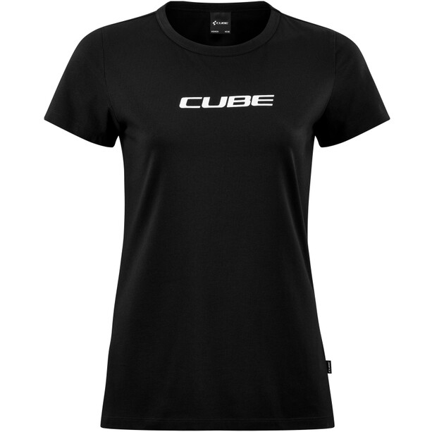 Cube Organic T-Shirt Classic Logo Damen schwarz