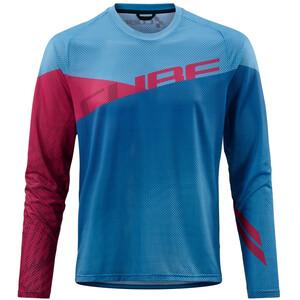 Cube Edge Pyöreäkaukuksinen Jersey Pitkähihainen Miehet, sininen/vaaleanpunainen sininen/vaaleanpunainen
