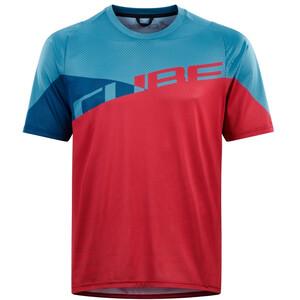 Cube Edge Koszulka rowerowa z krótkim rękawem Mężczyźni, różowy/niebieski różowy/niebieski