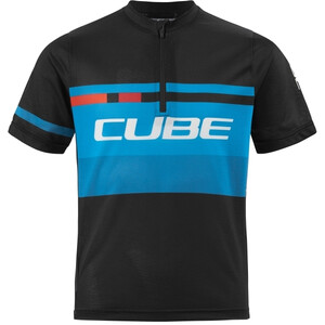 Cube Junior Teamline Kurzarm Trikot Kinder black´n´blue´n´white black´n´blue´n´white