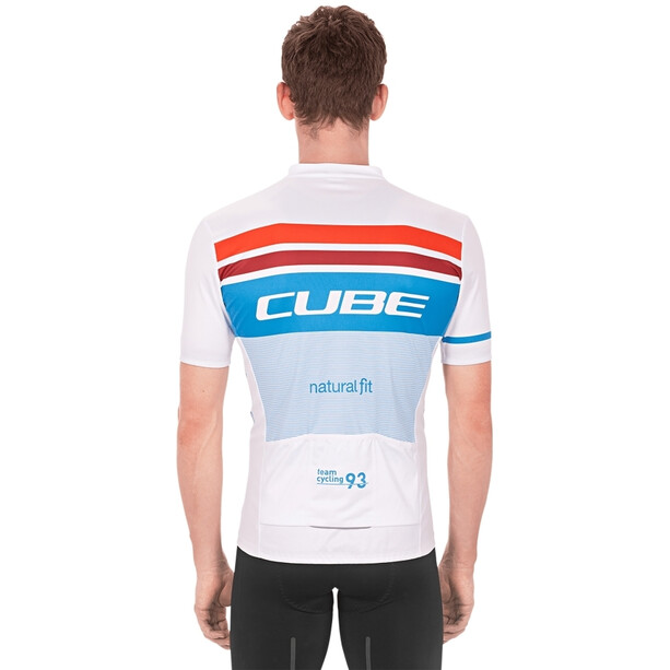 Cube Teamline Competition Kurzarm Trikot Herren white´n´blue´n´red