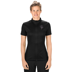 Cube Tour Core Full Zip Kurzarm Trikot Damen black black