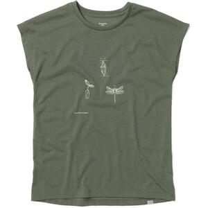 Houdini Big Up Message Kurzarm T-Shirt Damen utopian green utopian green