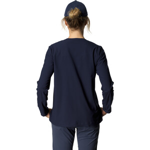 Houdini Cover Rundhals-Langarmshirt Damen blue illusion blue illusion