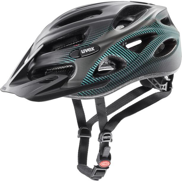 UVEX Onyx CC Helm black teal mat