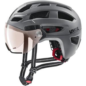 UVEX Finale Visor Vario Helm grau grau