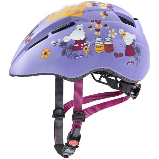 UVEX Kid 2 CC Helm Kinder lilac mouse mat