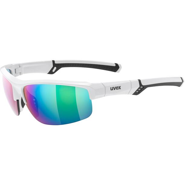 UVEX Sportstyle 226 Glasses, white/mirror green