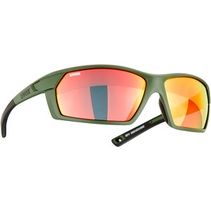 UVEX Sportstyle 225 Glasses, olive/rouge olive/rouge
