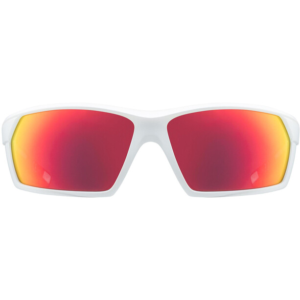 UVEX Sportstyle 225 Glasses white mat/mirror red