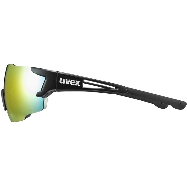 UVEX Sportstyle 804 Glasses, black mat/mirror rainbow