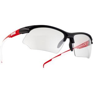 UVEX Sportstyle 802 V Glasses, negro/rojo negro/rojo
