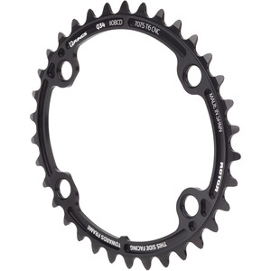 Rotor Oval Chainring for ALDHU/Shimano ブラック