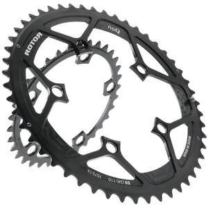 Rotor NoQ-Ring Chainring Road Non-Aero ブラック