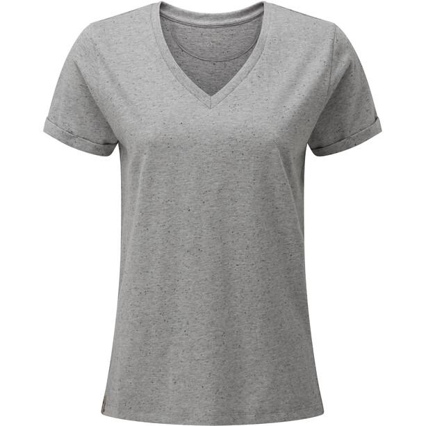tentree Nahanni T-shirt à col en V Femme, grey snow fleck