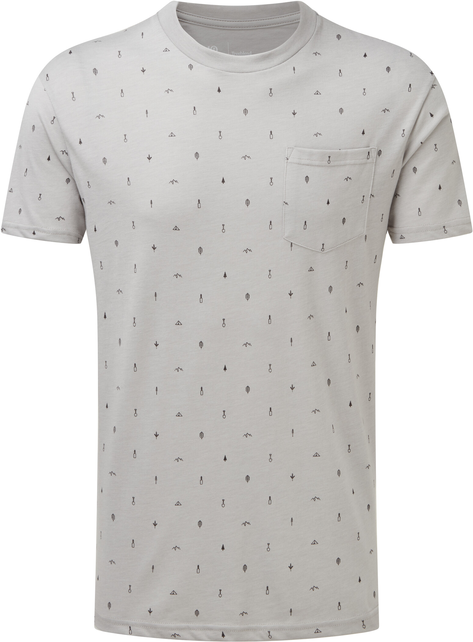 tentree Print Classic T Shirt Herr hi rise greyplanting all over print