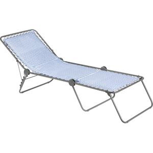 Lafuma Mobilier Siesta L Sun Bed Polycotton, sininen/valkoinen sininen/valkoinen