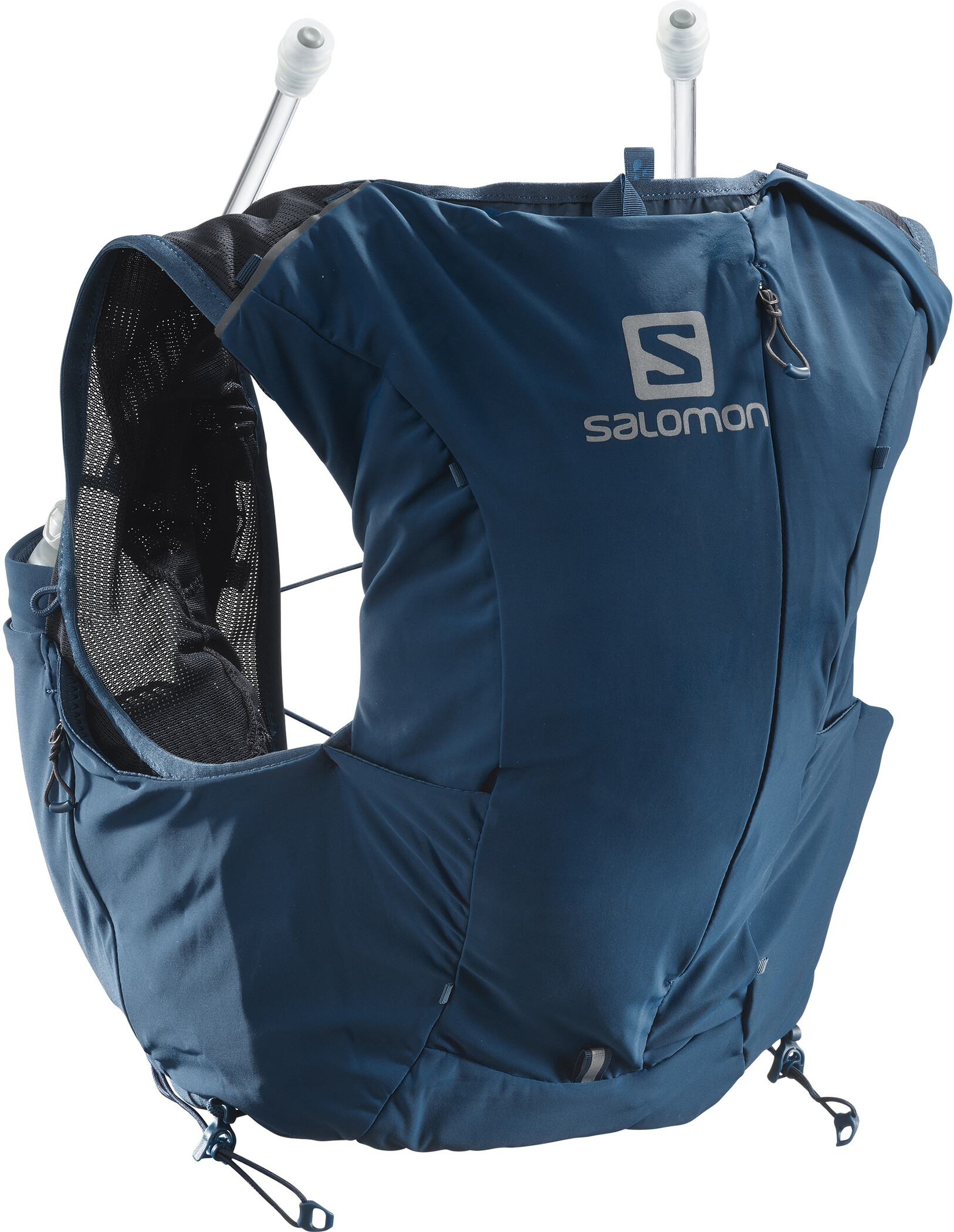 Salomon Active Skin 8 Backpack Set ebonyblack