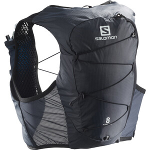 Salomon Active Skin 8 Backpack Set ebony/black ebony/black
