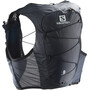Salomon Active Skin 8 Backpack Set ebony/black
