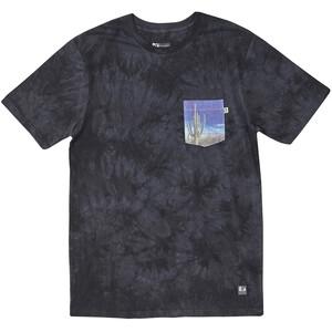 Hippy Tree Saguaro Cloud Wash Camiseta Hombre, gris gris
