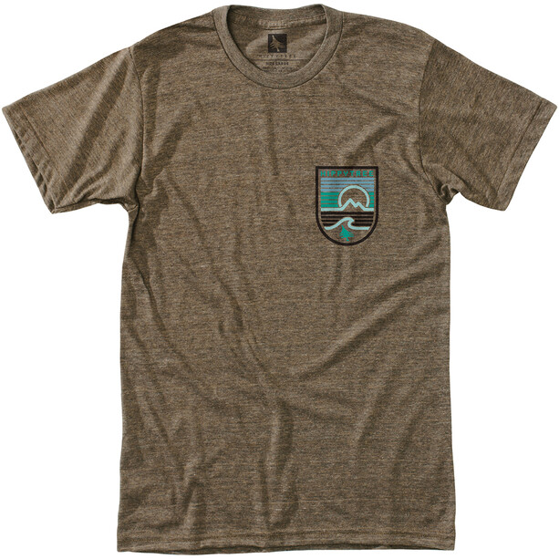 Hippy Tree Seastripe T-Shirt Herren heather brown
