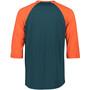 Mons Royale Tarn Freeride Raglan 3/4 Top Herr atlantic/orange smash