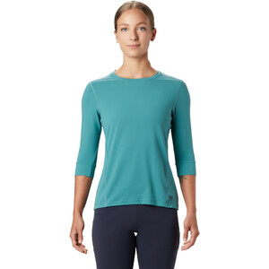Mountain Hardwear Crater Lake 3/4 Rundhalsshirt Damen washed turquoise washed turquoise