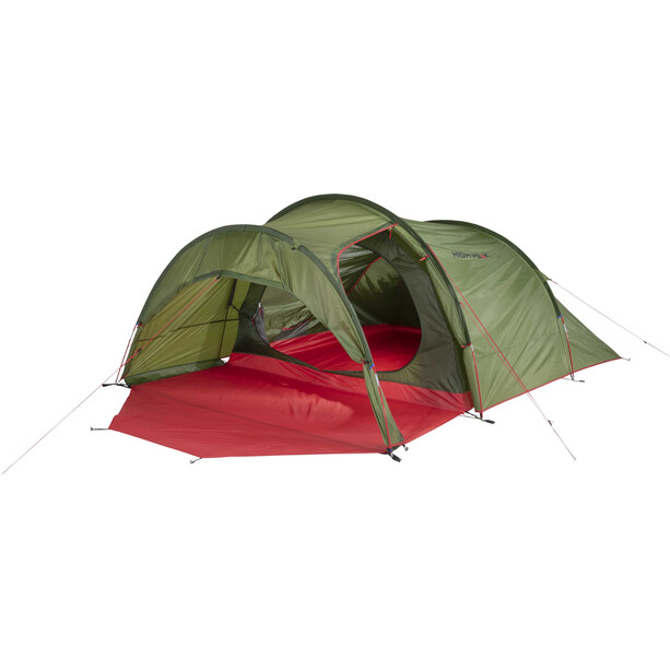 High Peak Goshawk 4 Zelt pesto/red