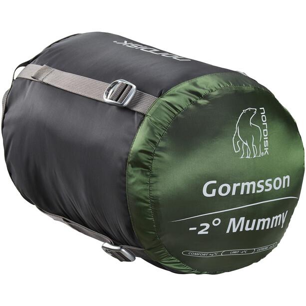 Nordisk Gormsson -2° Mummy Schlafsack M schwarz/grün