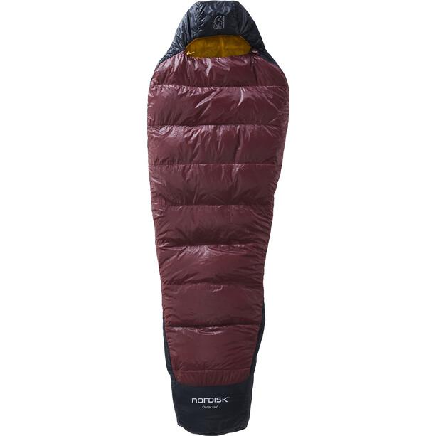 Nordisk Oscar +10° Mummy Sac de couchage M, noir/rouge