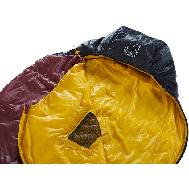Nordisk Oscar +10° Mummy Sac de couchage L, rio red/mustard yellow/black