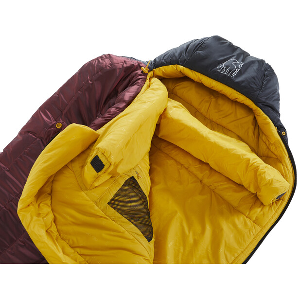 Nordisk Oscar -10° Mummy Sac de couchage L, rio red/mustard yellow/black