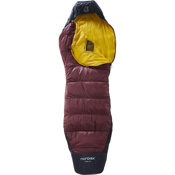Nordisk Oscar +10° Curve Sleeping Bag M rio red/mustard yellow/black